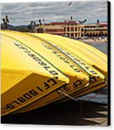 Rental Boats On The Municipal Wharf At Santa Cruz Beach Boardwalk California 5d23795 Canvas Print by Wingsdomain Art and Photography