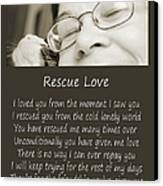 Rescue Love Adoption Canvas Print