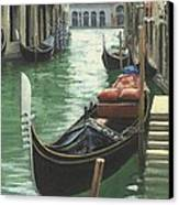 Resting Gondola Canvas Print by Michael Swanson