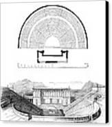 Restoration Of The Greek Theater Canvas Print