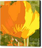 Retro Abstract Poppies 2 Canvas Print