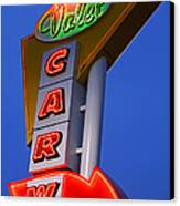 Retro Car Wash Sign Canvas Print by Norman Pogson
