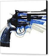 Revolver On White - Right Facing Canvas Print