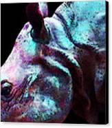 Rhino 1 - Rhinoceros Art Prints Canvas Print by Sharon Cummings