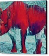 Rhino Canvas Print by Jack Zulli