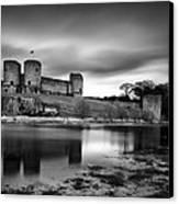 Rhuddlan Castle Canvas Print by Dave Bowman