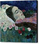 Ria Munk On Her Deathbed Canvas Print