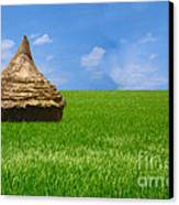 Rice Farming Canvas Print by Boon Mee