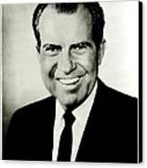 Richard M Nixon Canvas Print by Benjamin Yeager