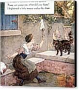Richardson: Pussy Cat Canvas Print