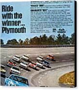 Ride With The Winner... Plymouth Canvas Print by Digital Repro Depot