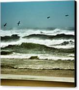 Riders On The Storm II - Outer Banks Canvas Print by Dan Carmichael