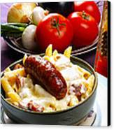 Rigatoni And Sausage Canvas Print by Camille Lopez