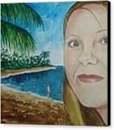 Rincon Girl Canvas Print by Frank Hunter