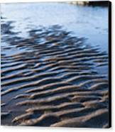 Ripples In The Sand Canvas Print by Anne Gilbert