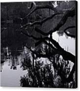 Ripples Of Black And White Canvas Print by Warren Thompson