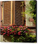 Riquewihr Window Canvas Print