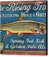 Rising Trout Sign Canvas Print by JQ Licensing