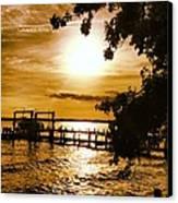 River Acres Jaynes Sunset Canvas Print by Joan Meyland