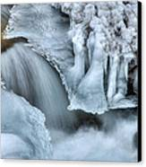 River Ice Canvas Print by Chad Dutson
