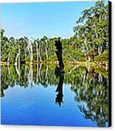 River Panorama And Reflections Canvas Print