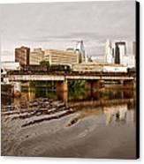 River Structures13 Canvas Print by Susan Crossman Buscho