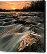 River Sunset Canvas Print by Davorin Mance