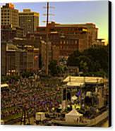Riverfront Concert Canvas Print by Diana Powell