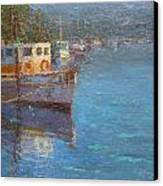 Riverton Morning Canvas Print by Terry Perham