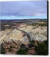 Road Over Slick Rock Canvas Print