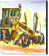 Roadmaster Tractor In Watercolor Canvas Print by Kip DeVore