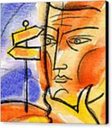Roadway Canvas Print by Leon Zernitsky