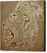 Roaring Inside Me Edited Canvas Print by Kiara Reynolds
