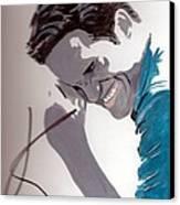 Robert Pattinson 48a Canvas Print by Audrey Pollitt