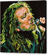 Robert Plant 40 Years Later Like Never Been Gone Canvas Print by Tanya Filichkin