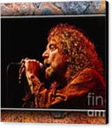 Robert Plant Art Canvas Print by Marvin Blaine