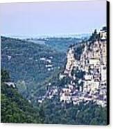 Rocamadour Midi Pyrenees France Panorama Canvas Print