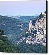 Rocamadour Midi Pyrenees France Panorama Canvas Print by Colin and Linda McKie