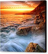Rock A Nore Splash Canvas Print by Mark Leader
