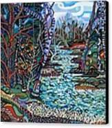 Rock Creek Canvas Print by Deborah Glasgow