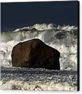 Rock V Wave I Canvas Print by Tony Reddington