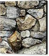 Rock Wall  Canvas Print by Les Cunliffe
