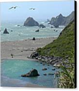 Rock West Coast Canvas Print by Mike McGlothlen
