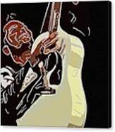 Rockabilly Electric Guitar Player  Canvas Print by Tommytechno Sweden