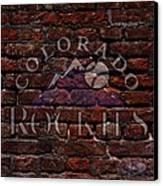 Rockies Baseball Graffiti On Brick  Canvas Print by Movie Poster Prints
