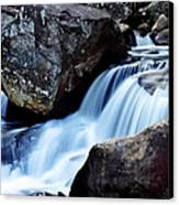 Rocks And Waterfall Canvas Print by Adam LeCroy