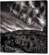Rocks Clouds Water Canvas Print by Bob Orsillo