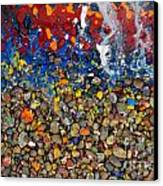Rocks Splattered With Paint Canvas Print by Amy Cicconi