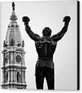 Rocky And Philadelphia Canvas Print by Bill Cannon