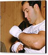 Rocky Marciano Getting Ready Canvas Print